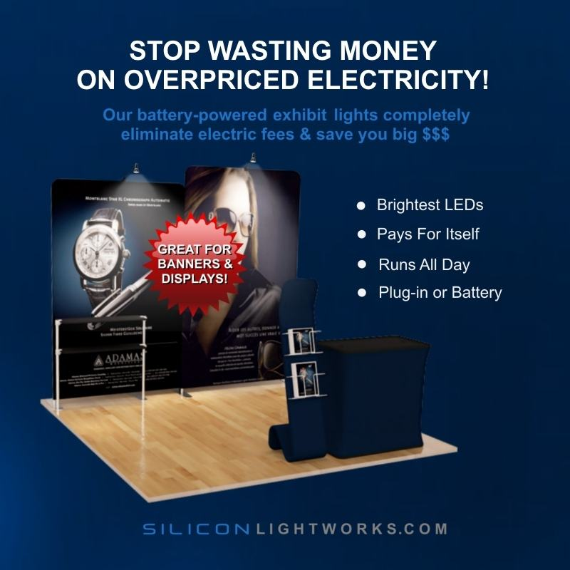 Battery Ed Trade Show Exhibit Lighting Silicon Lightworks