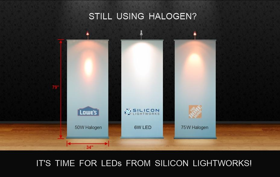 LED Banner Light vs Halogen Banner Light