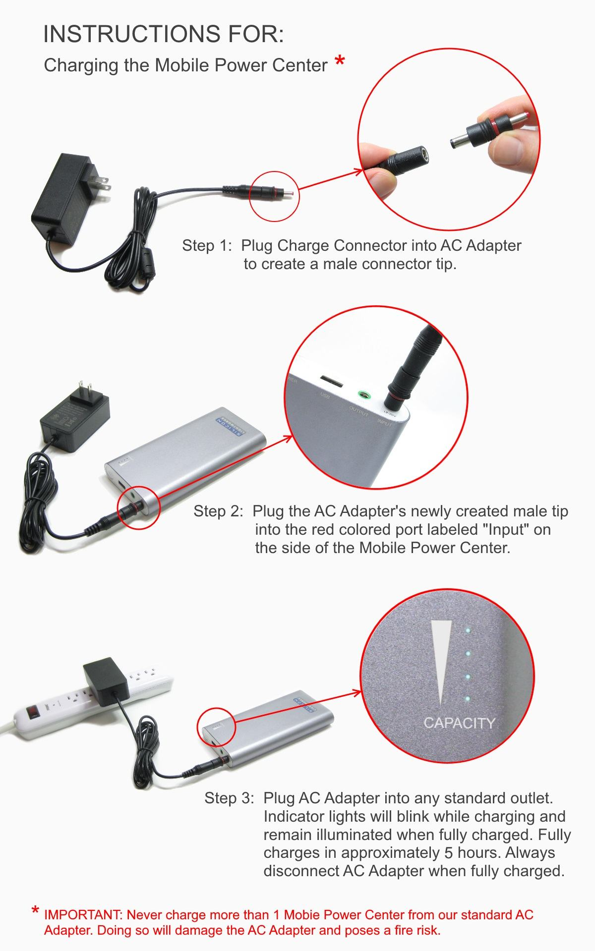 Exhibition Lighting - Batttery Charging Instructions
